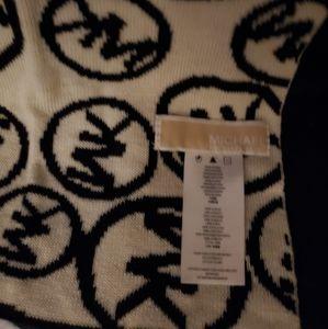 Michael kors scarf unisex new no tags black/white